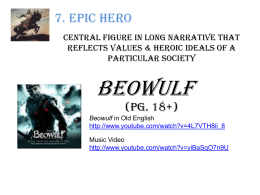Critical analysis essay of beowulf