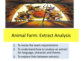 Animal Farm: Extract Analysis