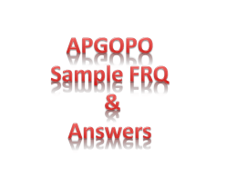 FRQ Sample Question & Answers
