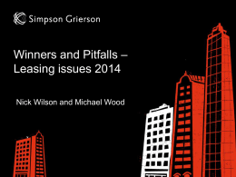 Winners and Pitfalls Leasing Issues 2014