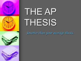 THE AP THESIS