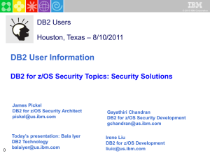 DB2 for z/OS Best Practices - New England DB2 Users Group