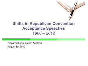 Analysis of Republican nomination acceptance speeches, 1980-2012