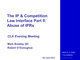 IP/competition - Competition Law Association