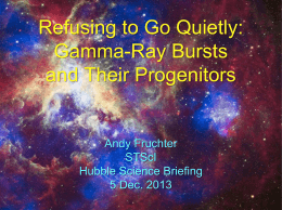 Refusing to Go Quietly: GRBs and Their Progenitors
