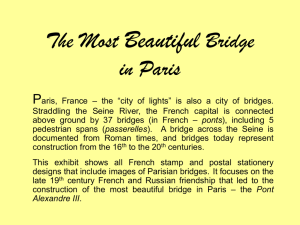The Most Beautiful Bridge in Paris