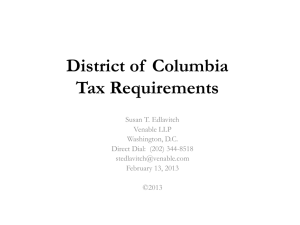 District of Columbia Tax Requirements