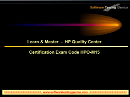 Learn HP Quality Center - Software Testing Genius