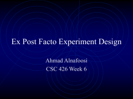 Ex Post Facto Designs