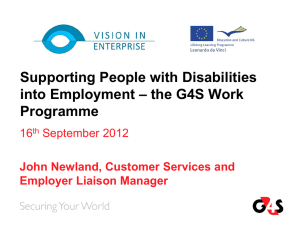 the G4S Work Programme
