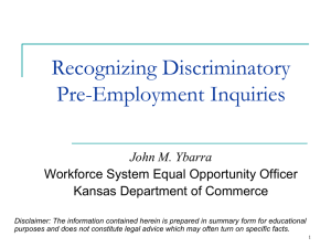 Preventing Discrimination in Employment Practices