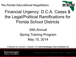Leonard Dietzen Power Point - Florida Educational Negotiators