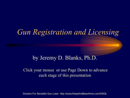 Gun Registration and Licensing
