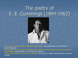 Poetry of E. E. Cummings