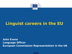 Working as a translator in the EU institutions