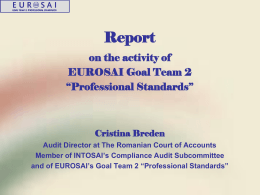 Presentation EUROSAI GT2 activity by Ms. C. Breden