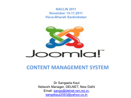 What Is Joomla! ?