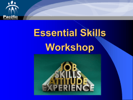 Introduction to Essential Skills Workshop