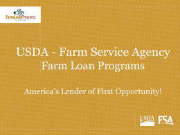 USDA Farm Loan Program