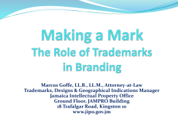 The Role of Trademarks in Branding - Marcus Goffe