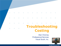Alan Chorney – Troubleshooting_Costing
