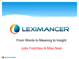 What is Leximancer?