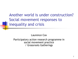 Another world is under construction? Social movement responses to