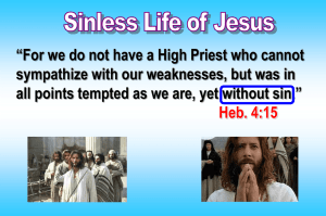 Sinless Life of Jesus - Radford Church of Christ