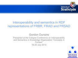 Interoperability and semantics in RDF