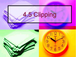 4.5 Clipping