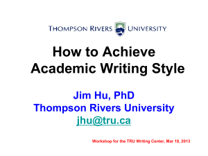 How to Achieve Academic Writing Style