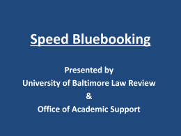 Id - University of Baltimore School of Law