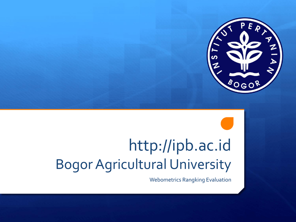 Http Ipb Ac Id Bogor Agricultural University