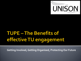 TUPE presentation - The Institute of Employment Rights