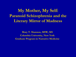 My Mother, My Self - Madness and Literature Network
