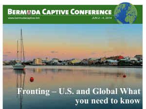 Fronting - the Bermuda Captive Conference