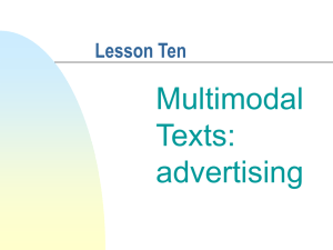 Multimodal Texts: advertising
