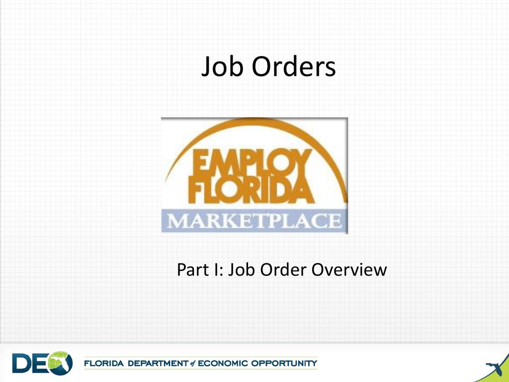 Job Orders - FloridaJobs org