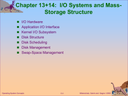 I/O Systems & Mass-Storage Structure