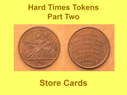 Hard Times Tokens - Augusta Coin Club
