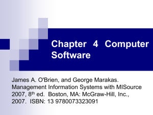 Chapter 4 Computer Software