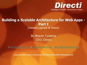 Building a Scalable Architecture