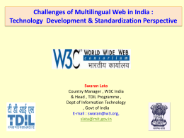 5. Challenges of Multilingual Web in India :Technology
