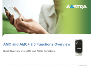 aastra-amc_functions_presentation