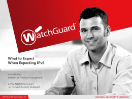 10.2mb PPT - WatchGuard Technologies