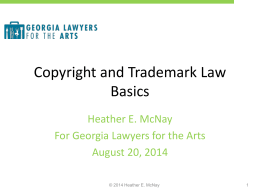 COPYRIGHT AND COPYWRONG - Georgia Lawyers for the Arts