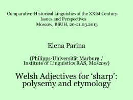 "Dr. Elena PARINA (Institute of Linguistics RAS,Moscow): ""HALF"