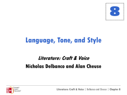 Language, Tone and Style Powerpoint