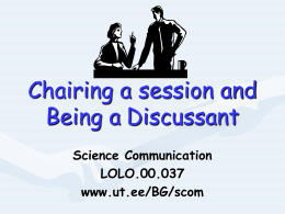Being a Discussant 9
