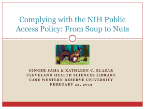 Complying with the NIH Public Access Policy